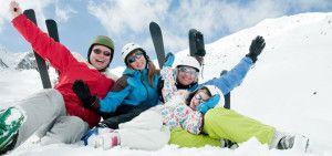 Family, ski, snow and fun